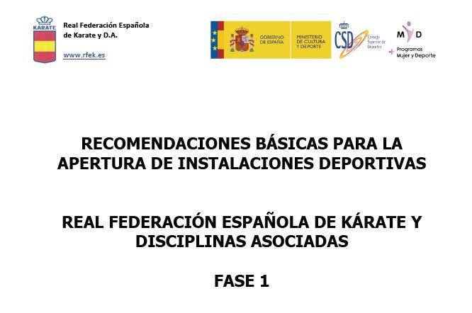 BOE 06/05/2020 y recomendaciones RFEK para reapertura de gimnasios